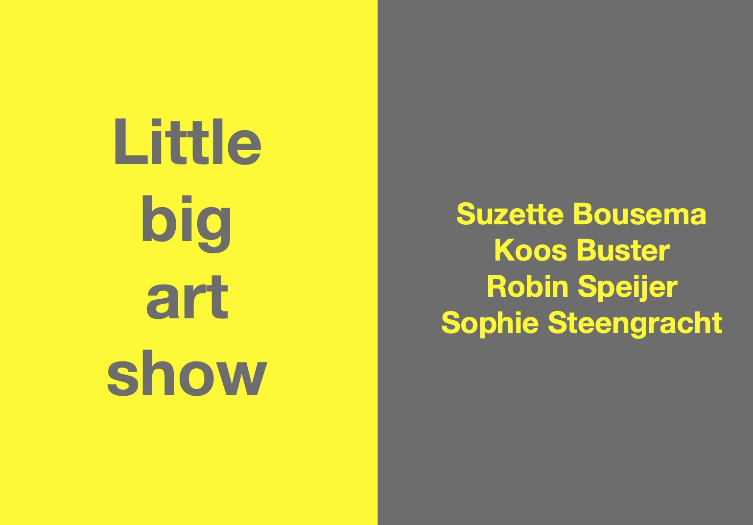 Little+Big+Art+Show